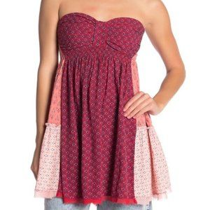 Across the Sea Strapless Tunic RUBY SMALL